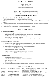 Relevant Experience Resume Examples by Download Sample Production Resume Haadyaooverbayresort Com