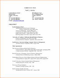 Columbia Resume Adorable London Business Resume Format With Columbia