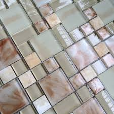 crystal glass stone mosaic kitchen backsplash tile sgmt158 pink