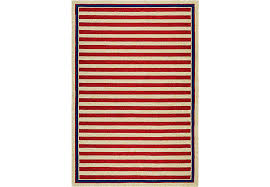 8 11 Rug Nautical Stripes Red 8 U0027 X 11 U0027 Indoor Outdoor Rug Rugs Red