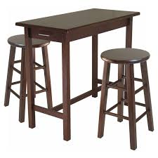 winsome wood 3 piece counter height pub set with rush stools
