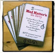 mad hatter tea party invitations wording cloveranddot com