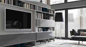 contemporary tv wall unit metal lacquered modular urban by