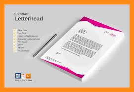 6 nice letterhead templates actor resumed