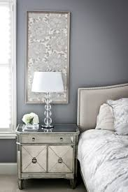 easy idea framed fabric panels for bedside walls mirrored