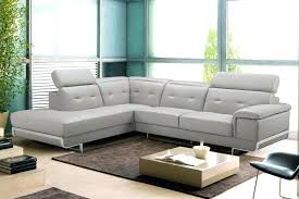 Leather Sectional Sofa Chaise Sectional Homelegance Modern Small Tufted Grey Leather Sectional