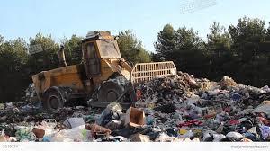 garbage dump bulldozer at garbage landfill 2 stock video footage