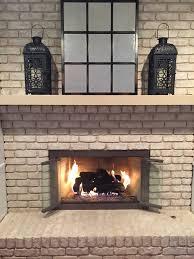 wood fireplace glass doors fleshroxon decoration
