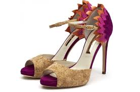 wedding shoes cork wedding shoes purple orange cork