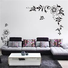 Home Decor Free Shipping | lh563 free shipping diy big size vine flower butterfly removable
