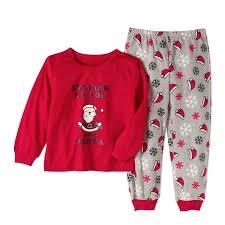 family pajamas baby toddlers unisex santa 2 pajama