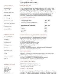 Secretary Resume Templates Medical Receptionist Resume 2017 Free Resume Builder Quotes
