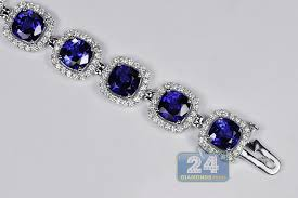 bracelet diamond sapphire images Womens diamond blue sapphire bracelet 18k gold 29 08 ct 7 inches jpg