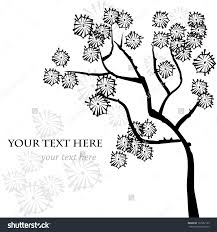 Asian Design Stylized Vector Tree Asian Style Template For Greeting Card