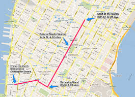Map Of New York And Manhattan by Route Map Details For New York City U0027s 2016 Lgbt Pride March In