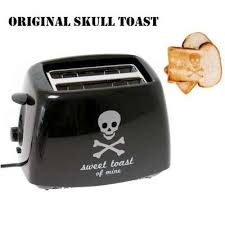 Toast In A Toaster Totenkopf Skull Toaster Burns A Skull And Crossbones In Your Toast