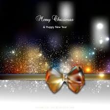 dark color christmas greeting card bow background template