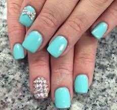 cute nails aqua blue and black cheetah print pattern nail design