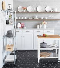 white kitchen cabinets black tile floor to floors bedrosians tile
