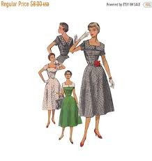 v shaped dress pattern on sale fit and flared dress pattern simplicity 4650 square neckline