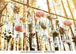 wedding flowers decoration wedding flowers decoration arch forest idea stock photo 567843847