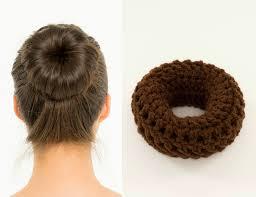 donut bun brown sock bun maker crocheted donut bun maker