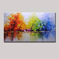 painted landscape horizontal panoramic modern canvas