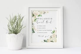 poloroid guest book polaroid guest book wedding sign printable garden white