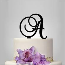 online get cheap monogram cake topper aliexpress com alibaba group
