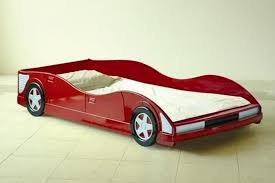 Car Bed Frames Race Car Bed And Simple Cool Design Also White Bedding Set