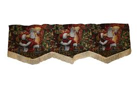 Santa Curtains Lovable Christmas Curtain Designs Home Designing