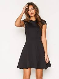 cap sleeve dresses lace cap sleeve dress nly one black party dresses clothing
