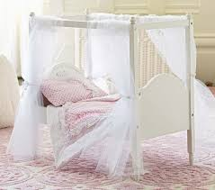 Pink Canopy Bed Doll Canopy Bed U0026 Pink Floral Bedding Pottery Barn Kids