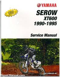 1990 1995 yamaha xt600 serow motorcycle service manual