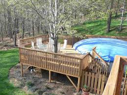 above ground pool deck designs u2014 unique hardscape design wood