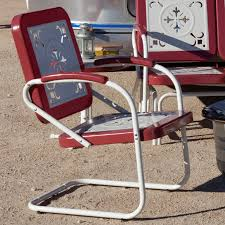Retro Metal Garden Chairs by Coral Coast Paradise Cove Retro Metal Arm Chair Hayneedle