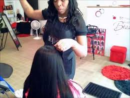 sew in weaves with bangs full sew in weave with side bangs youtube