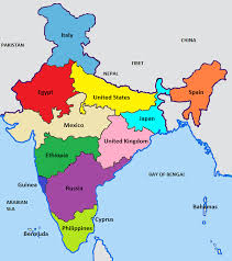 World Map Countries India U0027s Population Compared With Other Countries India Pinterest