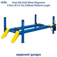 4 post 5 5 ton wheel alignment lift vehicle lift single phase