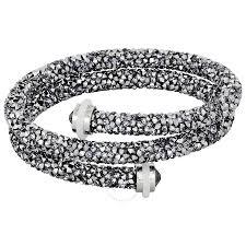 bangle bracelet swarovski images Swarovski crystaldust bangle double gray 5237762 swarovski jpg