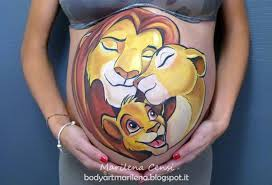 belly painting lion king dipinto pancione re leone jpg 1600 1090