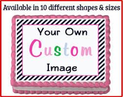 custom edible images custom edible image etsy