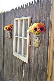Garden Window Decor Garden Fence Decor Old Window Outdoor Decor