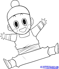 draw chiaotzu step step dragon ball characters