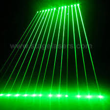 Lighting Curtains Automated Laser Rain Curtain Effect Green Stage Laser Lighting