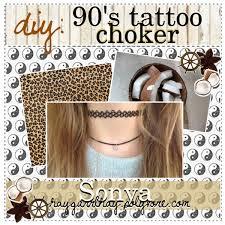 diy 90 u0027s tattoo choker polyvore