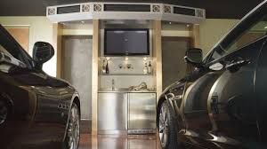 driving into luxury garages
