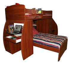Cherry Wood Desk Rustic Cherry Wooden Loft Bunk Bed With Study Desk Using Striped