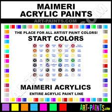 maimeri start acrylic paint colors maimeri start paint colors