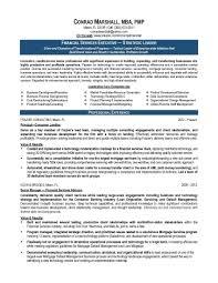 Resume Writing Business Resume Samples Program U0026 Finance Manager Fp U0026a Devops Sample
